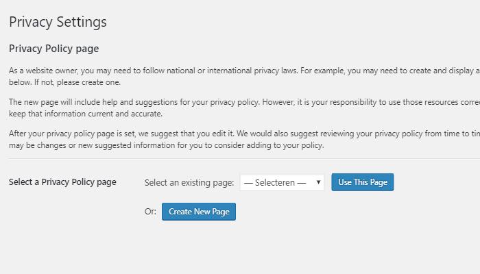 Dating site privacy verklaring